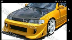 Body kit complet Civic / Crx 88-91