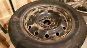 Blizzard Snow Tires/with 5 bolt steel rims Stratford Kitchener Area image 2