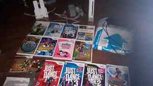 Huge Wii system and games bundle..dance, Mario, donkey Kong, etc