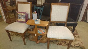 Pair of gorgeous upholstered wood chairs low price $39.99