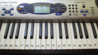 Casio LK 44 with 61 Lighted Keyboard with power supply AC/DC