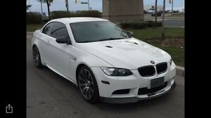 2009 BMW m3 white on red leather convertible