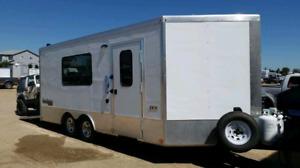 Toy hauler / ice fishing dual pupose trailer.