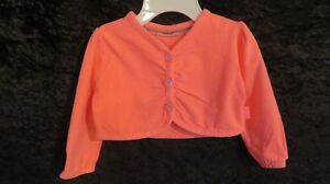 New Baby Girl MEXX Sweater/Cardigan Orange Size 6-9 Mths