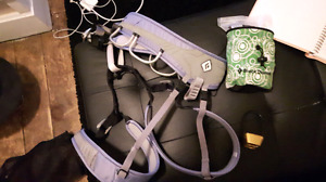 MEC women's climbing harness and accessories