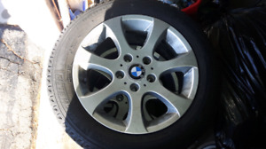 """16"""" BMW RIMS WITH MICHELIN X-ICE TIRES"""