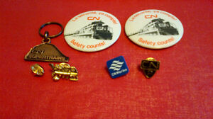 Canadian National Railways-Pins,Buttons,Key Chain