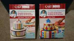 Cake Boss Baby Shower & Circus Cake Decorating Kits - Brand New