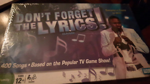 Don't forget the Lyrics - NEW board game
