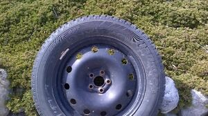 Mounted winter tires