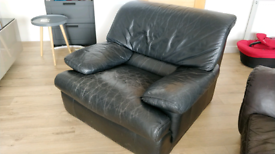 Free leather armchair