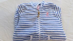Baby Girl Juicy Couture Sleeper Blue Size 6-9 Mths