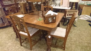 Antique table and five chair set at street price!!!