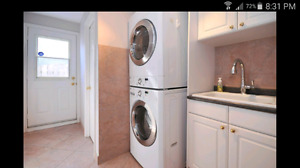 Laundry sink + cabinets