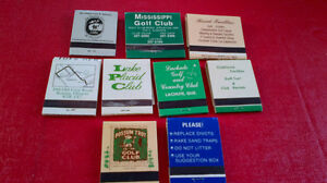Matchbook Covers-Golf Courses Kitchener / Waterloo Kitchener Area image 2
