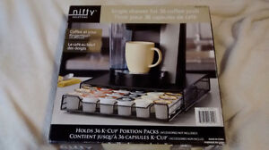 36 place k cup holder  black metal and mesh 24 place k cup holde
