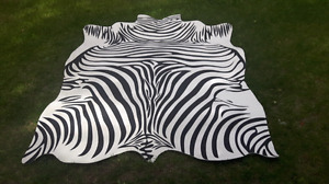 Tapis imitation zebre