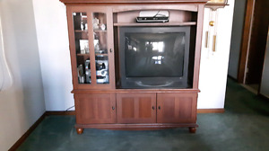 Entertainment Unit with TV and End Tables