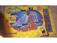 Sponge bob boat toys children's