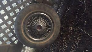 Original CLASSIC mustang Mach 1 rims and tires