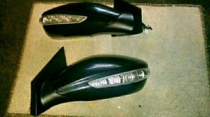 Hyundai sonata 2011 to 2014 Black Side mirrors with l.e.d  Rewir