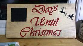 Days until Christmas plaque
