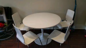Ikea Docksta table and chairs