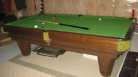 Oversized 8ft Brunswick heritage pool table