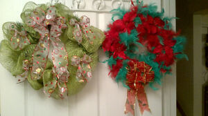 Christmas Wreaths and center pieces