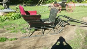 Vintage horse drawn sleigh