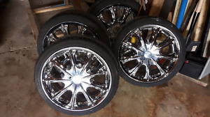 ETX 17 inch Chrome rims. 5x100mm and 5x108mm