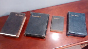 Antique Holy Bibles.