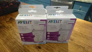 4 boxes of Avent Breast milk storage bags