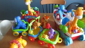 lot FisherPrice Animaux Arche Noe et Train