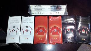 Lot of 6 - 2006 Mini Olympic Hockey Jerseys