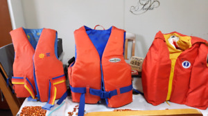 3 adult pfds mint ready for hunt or fish