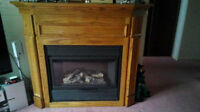 Price Reduced:  Electric Fireplace Oak - Medium to Large size