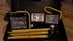 3 industry lights with mount and bipod  with dimmer switch