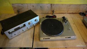 Technics SL-B202 Turntable + Sansui A-40 Amplifier