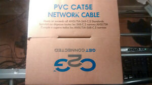 Brand New C2G 500 Feet Cat5E UTP Solid PVC CMR-Rated Grey Cable