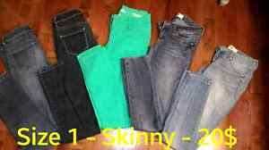 Size 1 - Jeans - 5 pair for 20$