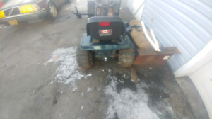 Craftsman lawn tractor with snow blower attachment