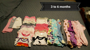 3 to 6m Girl clothes