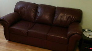 Real Leather Couch & Chair