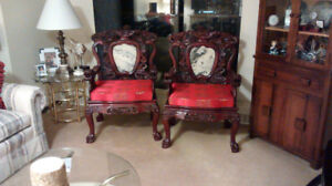 ANTIQUE ~ KING CHAIRS