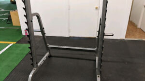 Body Solid GPR370 Half Power Squat Cage Rack no bench weights