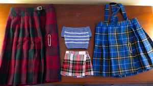 youth sized Scottish kilts
