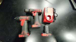 Snap On Impact and Drill combo, 3 batteries & charger.