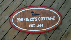 Outdoor Rustic cottage wooden signs custom made