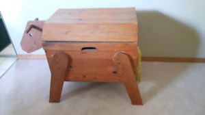 Solid Wood Horse Chest